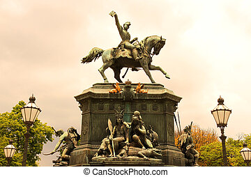 Statue in Rio de Janeiro - The Est?tua equestre de D. Pedro...