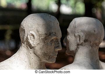 Statue in Rodin Museum in Paris