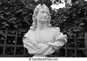 Statue in Summer Garden.