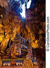Statue in the Batu caves at Kuala Lumpur