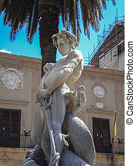 Statue in the city of Monreale