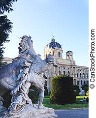 Statue in the garden of Kunsthistorisches Museum in Vienna