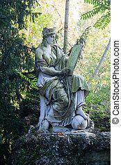 Statue in the Giardini Indro Montanelli park, Milan. -...