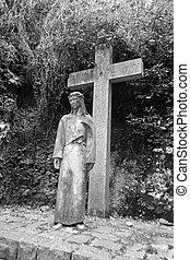 Statue in the Monastery of Montserrat
