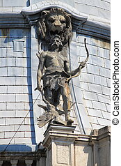 Statue in the rooftop of Vajdahunyad castle