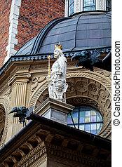 Wawel Royal Castle in Krakow, Poland - Statue in the Wawel...
