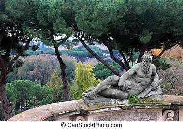 statue in Villacelimontana , Rome