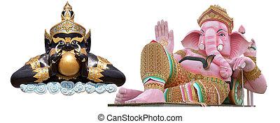 statue isoled rahu, elephant