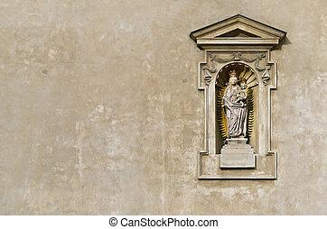 statue, jungfrau maria