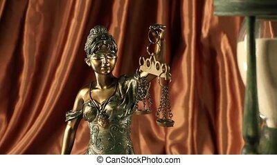 statue, justice, dame