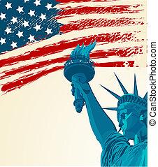 statue, liberté