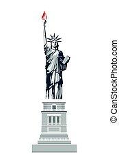 statue liberté, icône