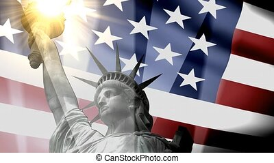 Statue liberty - Concept patriotic animation, Statue Liberty...