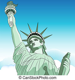 Statue Liberty - An image of the statue of liberty.