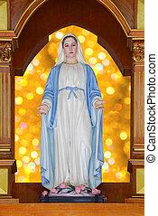 statue, maria