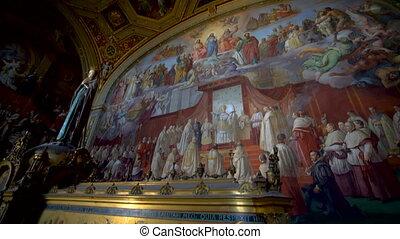 statue, marie, vatican, italie, rome, musées