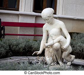 Statue, Miramare castle. Trieste - Italy