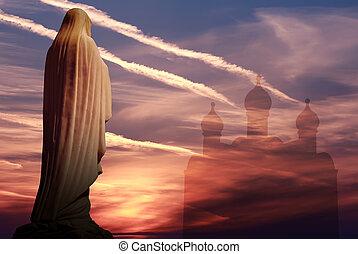 Statue mother of Jesus Christ