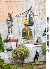 Statue near Big Buddha monument, Phuket, Thailand. Thai...