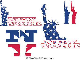 statue, new york, liberté