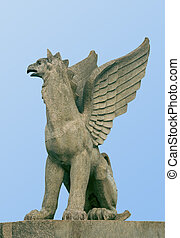 Statue of a griffin