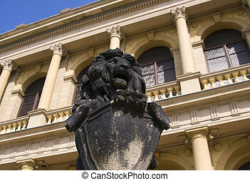 Statue of a lion set two