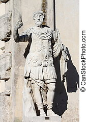 Statue of a roman militar leader in Rome, Italy