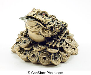 statue of a toad