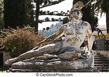 Statue of Achilles in Achillion