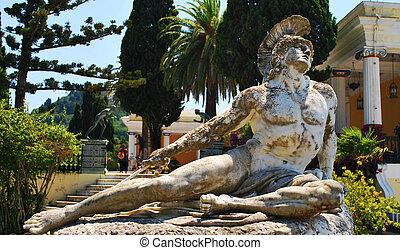 Statue of Achilles in Achillion palace, Corfu