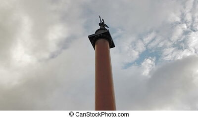 The statue of the angel was designed by the Russian sculptor Boris Orlovsky. Alexander Column, St. Petersburg, Russia