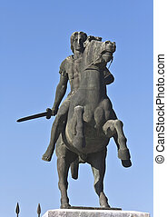Statue of Alexander the Great at Thessaloniki in Greece