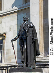 Statue of American president George Washington in London -...