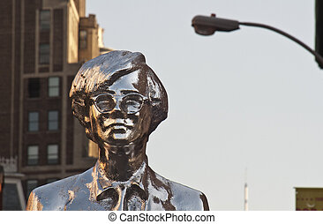 Statue of Andy Warhol