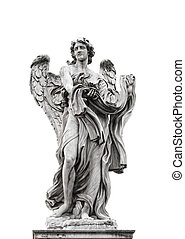 Statue of angel isolated on white background