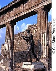 Statue of Apollo, Pompeii, Italy.