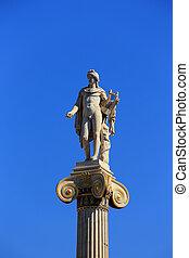 statue of Apollon on the column, Athens, Greece
