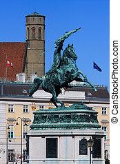 Statue of archduke Charles of Austria, Heldenplatz, Vienna, Aust