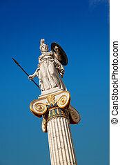 Statue of Athena, Athens, Greece.