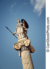 Statue of Athena goddess of knowledge,