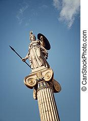 Statue of Athena goddess of knowledge,