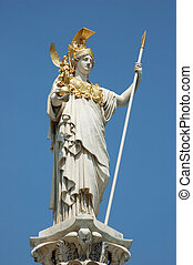 Statue of Athena the Goddess of Wisdom, in Vienna, Austria