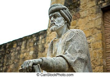 Statue of Averroes in Cordoba - Statue of the philosopher...