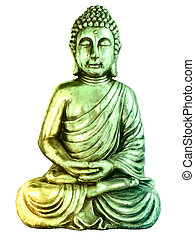 Statue of buddah isolated on white background