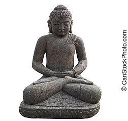 Statue of Buddha in white background