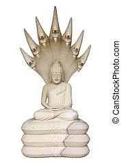 Statue of Buddha on a white background