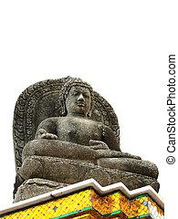 statue of Buddha white background