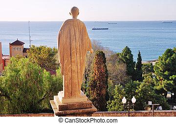 Statue of Caesar in Tarragona, Spain