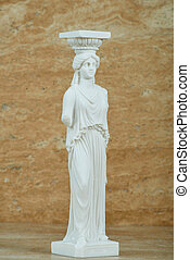 Statue of Caryatid, Parthenon of Acropolis in Athens.
