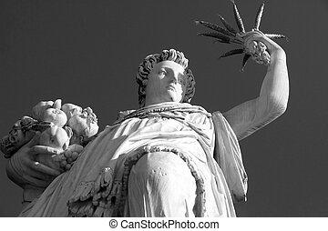 Statue of Ceres ( greek Demeter ) - ancient roman goddess in...